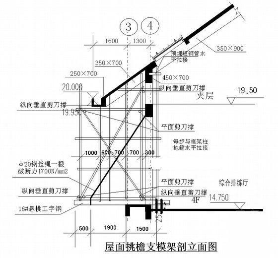 楼顶大字 - 钢架结构图