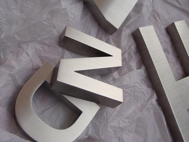 不锈钢精工拉丝平面字